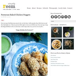 Parmesan Chicken Nuggets Baked