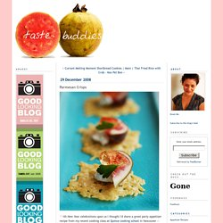 Parmesan Crisps - Taste Buddies - A Sydney Food Blog