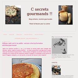 Gâteau salé cuit à la poêle: version chorizo/tomates séchées/parmesan