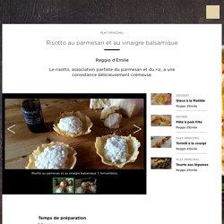 Risotto au parmesan et au vinaigre balsamique
