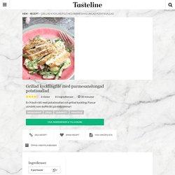 Grillad kycklingfilé med parmesanslungad potatissallad - Recept - Tasteline.com