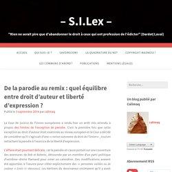De la parodie au remix : quel équilibre entre droit d'auteur et liberté d'expression