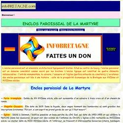 Enclos paroissial de La Martyre (Bretagne) : église, calvaire, ossuaire