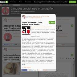 Paroles assassines - Xavier Molénat, article Histoire