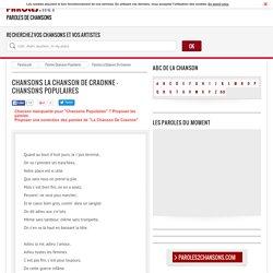 Paroles La Chanson De Craonne par Chansons Populaires