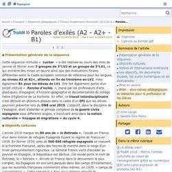 Paroles d'exilés (A2 - A2+ - B1) - Espagnol