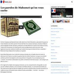 Les paroles de Mahomet qu'on vous cache — France Laïque
