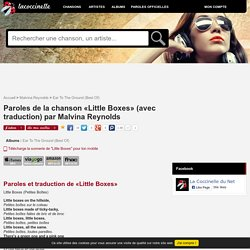 Paroles et traduction Malvina Reynolds : Little Boxes