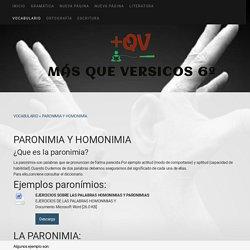PARONIMIA Y HOMONIMIA - Página web de masqueversicos6