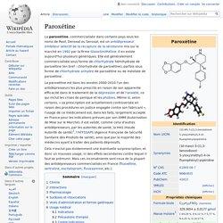 Paroxétine
