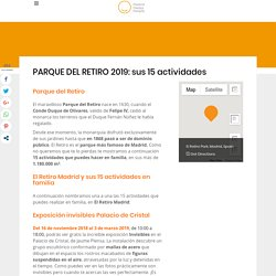 PARQUE DEL RETIRO 2019: sus 15 actividades - Madrid Happy People