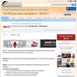 Yann.Charpentier777 vous parraine pour Betclic ! 10€ parrain, 110€ filleul