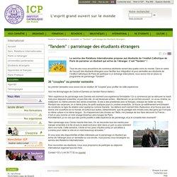 """""""Tandem"""" : parrainage des étudiants étrangers"""