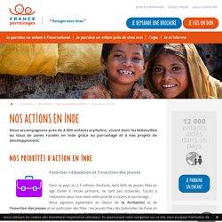 France Parrainages agit en Inde auprès des enfants les plus démunis