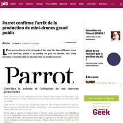 Parrot confirme l'arrêt de la production de mini-drones grand public