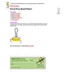 Parrot Pony Bead Patten