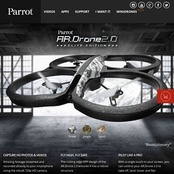 AR.Drone 2.0. Parrot new wi-fi quadricopter- AR.Drone 2.0 Parrot new wi-fi quadricopter - Fly with iPhone and iPad, Record videos in HD, Share on YouTube