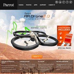 AR.Drone 2.0. Parrot new wi-fi quadricopter - AR.Drone.com - HD Camera - Parrot