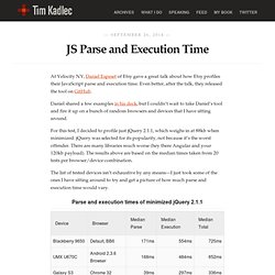 JS Parse and Execution Time