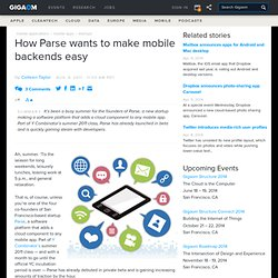 How Parse wants to make mobile backends easy