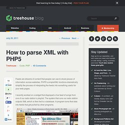 How to parse XML with PHP5