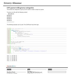 CSV parser with groovy categories : Groovy Almanac