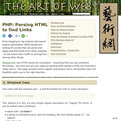 Parsing HTML to find Links < PHP