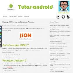 Parsing JSON avec Jackson sous Android