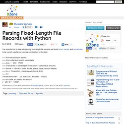 Parsing Fixed-Length File Records with Python