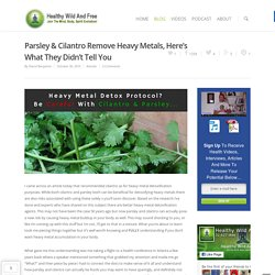 Parsley & Cilantro Remove Heavy Metals, Here's What They Didn't Tell You - Healthy Wild and Free