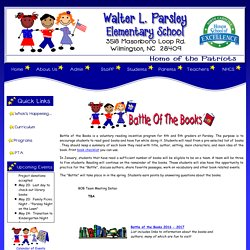 Parsley Elementary Battle of the Books
