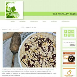 the parsley thief: Peanut Butter Pie