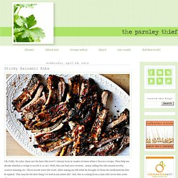 the parsley thief: Sticky Balsamic Ribs