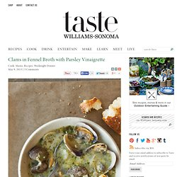 Clams in Fennel Broth with Parsley Vinaigrette