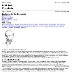 Part 2. Prophets