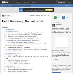 Part 1: Backbone.js Deconstructed