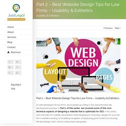 Part 2 - Best Law Firm Website Design Tips