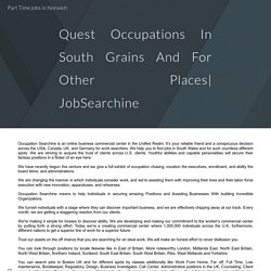 Quest Occupations In South Grains And For Other Places