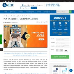 Part-time Jobs For Students In Australia