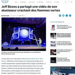 Jeff Bezos a partagé une vidéo de son alunisseur crachant des flammes vertes