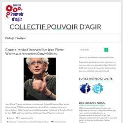 Partage d'analyse – COLLECTIF POUVOIR D'AGIR