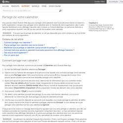 Partage de votre calendrier - Office WebApps
