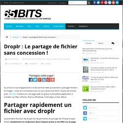 Droplr : Le partage de fichier sans concession !