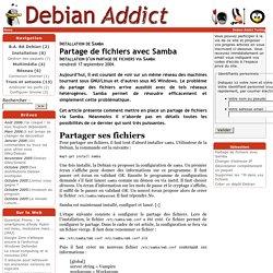Partage de fichiers avec Samba