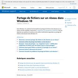 Partage de fichiers sur un réseau dans Windows10 - Windows Help