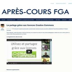 Le partage grâce aux licences Creative Commons
