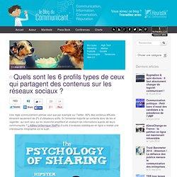 Quels sont les 6 profils types de ceux qui partagent des contenus sur les réseaux sociaux