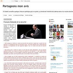 François Hollande et la sécurité