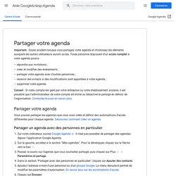 Partager votre agenda avec des personnes en particulier - Centre d'aide GoogleAgenda