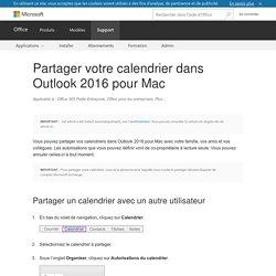 Partager votre calendrier dans Outlook2016 pour Mac - Support Office